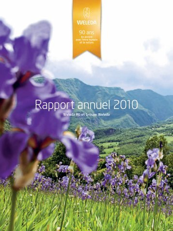 Rapport annuel 2010 - Weleda