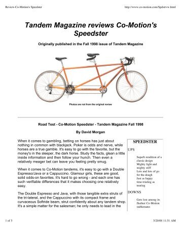 Review-Co-Motion's Speedster - Co-Motion Cycles