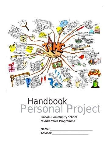 Personal Project Handbook - Lincoln Community School