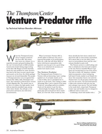 The Thompson/Center Venture Predator rifle - Frontier Arms