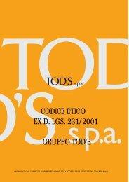 CODICE ETICO EX D. LGS. 231/2001 GRUPPO TOD'S