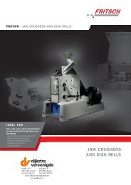 Fritsch Jaw Crushers and Disk Mills (PDF) - Laboratory Synergy, LLC