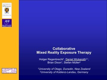 Collaborative Mixed Reality Exposure Therapy - HCI