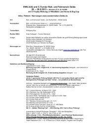 EWU-A/Q und C-Turnier Reit- und Fahrverein Oelde - Wittelsbuerger