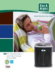 Air Conditioners and Heat Pumps 13 & 14 SEER