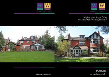 Wykeham, Alan Drive - Watersons Independent Estate Agents
