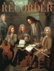 s u m m e r 2 0 1 3 - American Recorder Society
