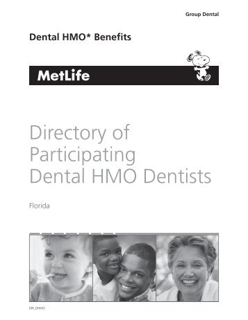 Directory of Participating Dental HMO Dentists - Risk Management