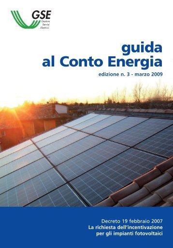 guida al Conto Energia - Ambiente