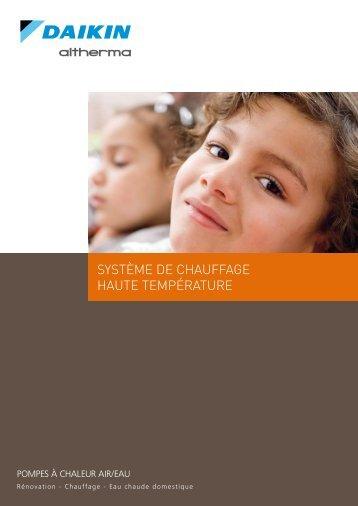 SYSTÈME DE CHAUFFAGE HAUTE TEMPÉRATURE - Energia