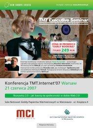 Konferencja TMT.Internet'07 Warsaw 21 czerwca 2007
