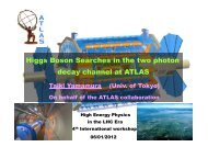 decay channel at ATLAS Higgs Boson Searches in the two photon ...