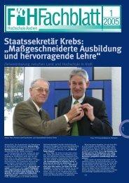 Staatssekretär Krebs - Fachbereich Luft- und Raumfahrttechnik - FH ...