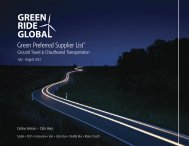 Green Preferred Supplier List™ - The Global Business Travel ...
