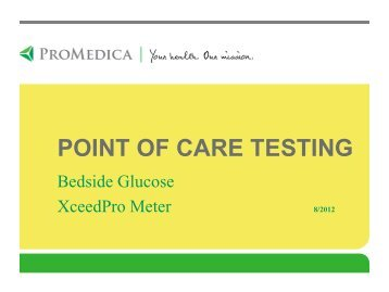 Point of Care Testing - ProMedica