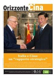 """Italia e Cina: un """"rapporto strategico"""""""