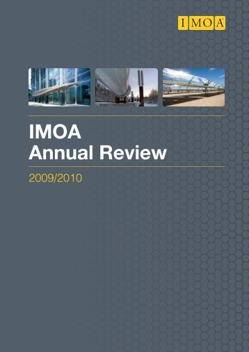 IMOA Annual Review 2009/2010 - Molybdenum Consortium