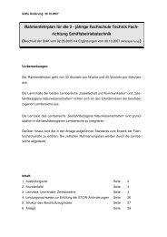 Rahmenlehrplan für die 2 - jährige Fachschule Technik Fach ...