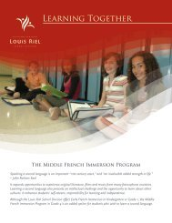 Learn more about the LRSD Middle French Immersion Program