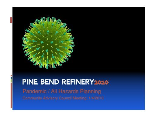 Pandemic / All Hazards Planning - Community Advisory Council to ...