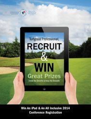 Recruit & Win - Canadian Golf Superintendents Association
