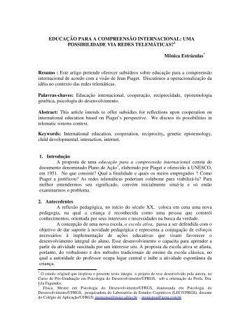 EDUCAÇÃO PARA A COMPREENSÃO ... - cinted/ufrgs