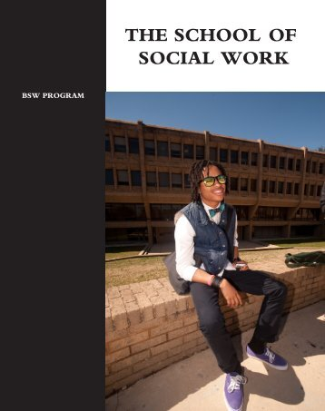 THE SCHOOL OF SOCIAL WORK - Morgan State University