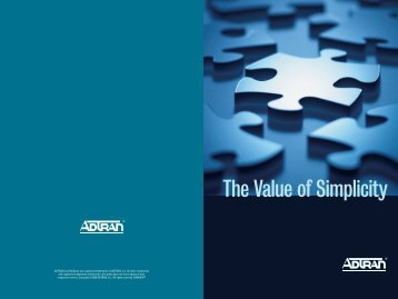 The Value of Simplicity - CyberStreams