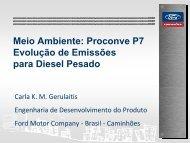 Proconve P7 Evolução de Emissões para Diesel ... - fatec santo andré
