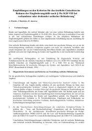 Empfehlungen zu den Kriterien für das ärztliche Gutachten im ...