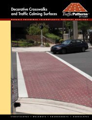 Decorative Crosswalks and Traffic Calming Surfaces