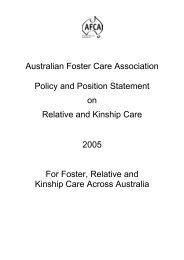 20kb - Australian Foster Care Association