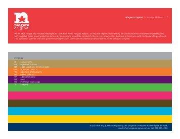 Niagara Original | brand guidelines