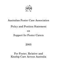 32kb - Australian Foster Care Association