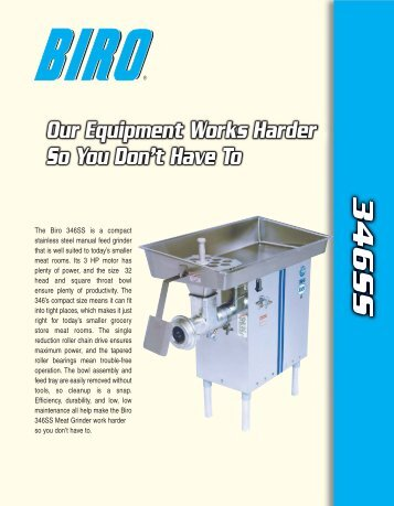 346SS Model - Biro Manufacturing Company