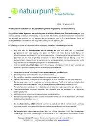 Standaardbrief Antwerpen-Zuid - Natuurpunt Zuidrand Antwerpen
