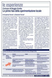 le esperienze - Agenda 21 Locale del Comune di Ravenna