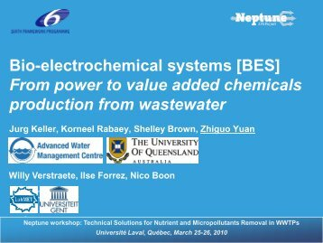 Bioelectrochemical systems - EU Project Neptune