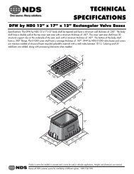 """TECHNICAL SPECIFICATIONS - DFW by NDS 12"""" x 17"""