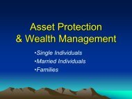 Asset Protection Considerations - Legal Medicine and Medical ...
