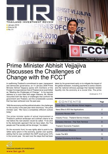 Prime Minister Abhisit Vejjajiva Discusses the Challenges of ...