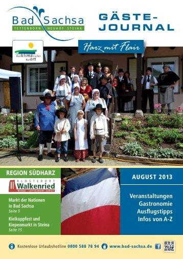 Gästejournal August 2013 (PDF) - Walkenried