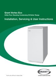Grant Vortex Eco Internal Floor Standing installation and ... - Grant UK