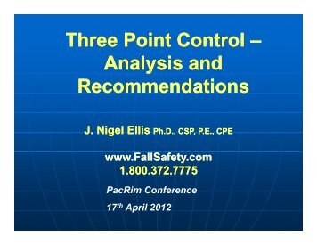 Three Point Control Three Point Control - Ellis Fall Safety Solutions