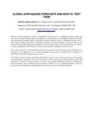 global earthquake forecasts and how to test them - IASPEI