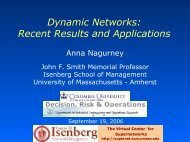 Dynamic Networks - The Virtual Center for Supernetworks