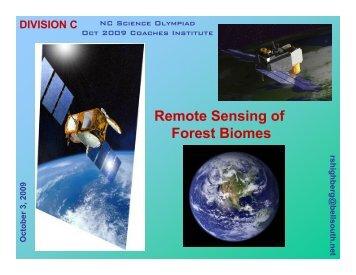 2009 Coaches Institute Presentation - North Carolina Science ...