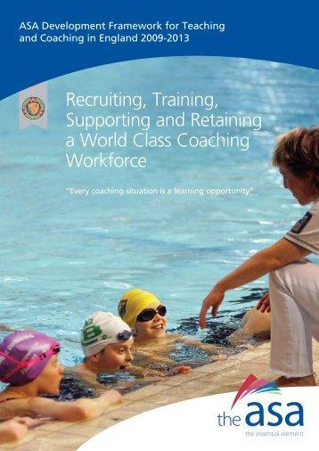 ASA Development Framework for Teaching and ... - sports coach UK
