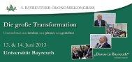 Die große Transformation - Wirtschaftswissenschaftliche Fakultät