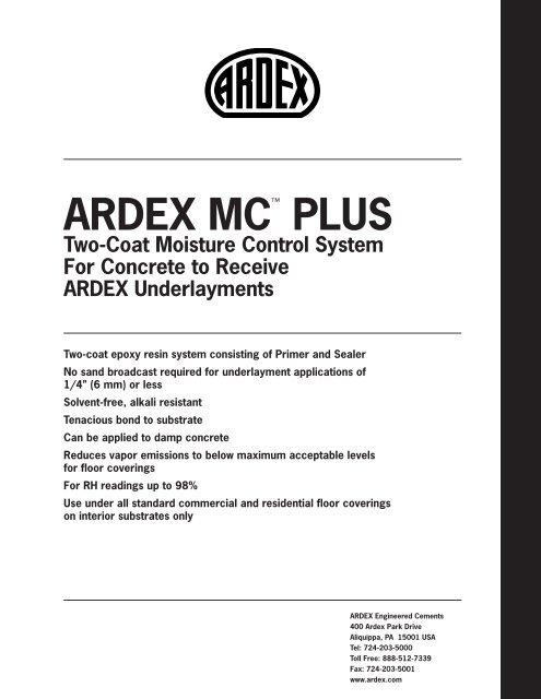 ARDEX MC™ PLUS - Centura